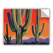 ArtWall Saguaro Dawn by Rick Kersten Art Appeelz Removable Wall Decal; 14'' H x 18'' W