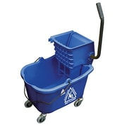 O-Cedar Commercial MaxiRough Mop Bucket and Wringer; Blue