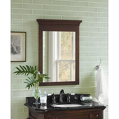 Ronbow Transitional 24'' x 33'' Solid Wood Framed Bathroom Mirror in Caf Walnut