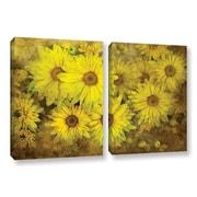 ArtWall Bright Sunflowers by Antonio Raggio 2 Piece Graphic Art on Wrapped Canvas Set