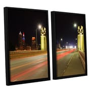 ArtWall Cleveland 7 by Cody York 2 Piece Floater Framed Canvas Set; 24'' H x 36'' W x 2'' D