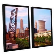 ArtWall Cleveland 10 by Cody York 2 Piece Floater Framed Canvas Set; 24'' H x 36'' W x 2'' D