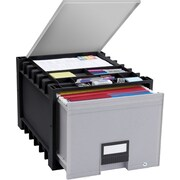 STOREX Archive Drawer with Lid and Lock (Set of 2)