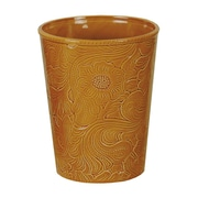 HiEnd Accents Savannah Waste Basket; Mustard