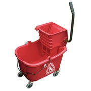 O-Cedar Commercial MaxiRough Mop Bucket and Wringer; Red