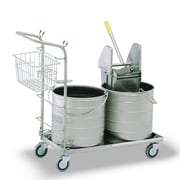 Royce Rolls #5 Series Double Bucket Mopping Unit; 6 Gal