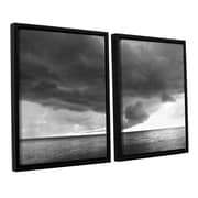 ArtWall Lake Erie Storm by Dan Wilson 2 Piece Framed Photographic Print; 24'' H x 36'' W x 2'' D