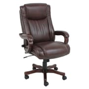 Barcalounger High-Back Wooden Leather Executive Chair with Arms