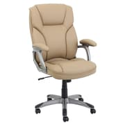 Global Furniture High-Back Manager Chair with Arms; Camel