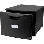 STOREX Legal/Letter Filing Drawer with Lock (Set of 2); Black