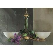 Classic Lighting Floral 2 Light Bowl Pendant