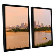 ArtWall Cleveland 19 by Cody York 2 Piece Floater Framed Canvas Set; 24'' H x 36'' W x 2'' D