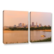ArtWall Cleveland 19 by Cody York 2 Piece Gallery-Wrapped Canvas Set; 24'' H x 36'' W x 2'' D