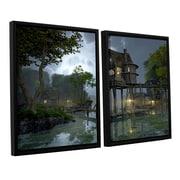 ArtWall Stillwater by Cynthia Decker 2 Piece Framed Photographic Print; 24'' H x 36'' W x 2'' D