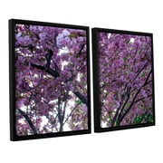 ArtWall Spring Flowers by Dan Wilson 2 Piece Framed Photographic Print on Canvas Set