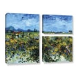 Art Wall Green Vineyard by Vincent Van Gogh 3 Piece Painting Print on Gallery-Wrapped Canvas Set