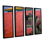 ArtWall Adobe Color by Rick Kersten 4 Piece Framed Painting Print; 36'' H x 48'' W x 2'' D