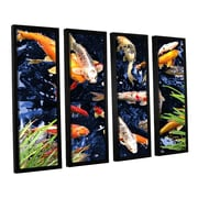 ArtWall Koi by George Zucconi 4 Piece Framed Photographic Print; 24'' H x 32'' W x 2'' D