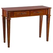 International Caravan Windsor Console Table; Stain