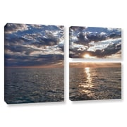 ArtWall Lake Erie Sunset I by Dan Wilson 3 Piece Photographic Print Wrapped Canvas Set