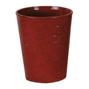HiEnd Accents Savannah Waste Basket; Red