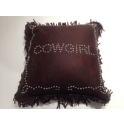 HiEnd Accents Cowgirl Studded Throw Pillow