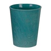 HiEnd Accents Savannah Waste Basket; Turquoise