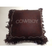 HiEnd Accents Cowboy Studded Throw Pillow