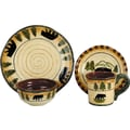 HiEnd Accents Bear 16 Piece Dinnerware Collection
