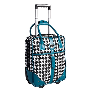 ELLE Rolling Carry-On Briefcase with Computer Padded Sleeve, Teal