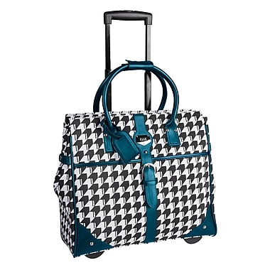 ELLE Rolling Carry-On Satchel with Computer Padded Sleeve, Teal