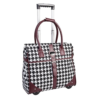 ELLE Rolling Carry-On Satchel with Computer Padded Sleeve, Bordeaux
