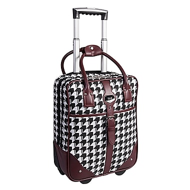 ELLE Rolling Carry-On Briefcase with Computer Padded Sleeve, Bordeaux