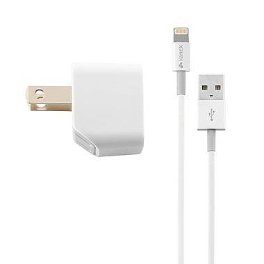 Kanex KA-KWCU10KT8P 1 Amp USB Wall Charger, 4ft. Lightning Cable Kit, White