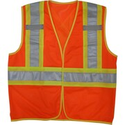 Open Road – Veste de sécurité en maille haute visibilité, petit/moyen, orange fluo, paq./3