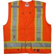 Open Road – Veste de sécurité pour arpenteur, petit, orange fluo