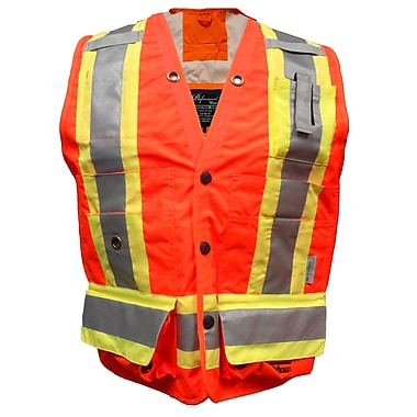 Viking Professional Journeyman Surveyor Safety Vest, Small, Fluorescent Orange