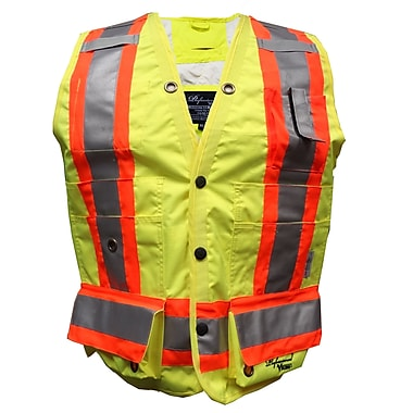Viking Professional Journeyman Surveyor Safety Vest, 3X-Large, Fluorescent Green