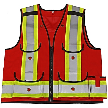 Viking Professional 1000D All-Trades Safety Vest, Medium, Red