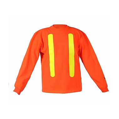 Viking 100% Cotton Long Sleeve Safety Shirt with UPF50+ Rating, 2X-Large, Orange