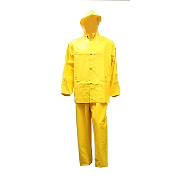 Open Road Light Duty Industrial Rain Suit, Large, Yellow