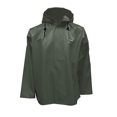 Viking Journeyman PVC Hooded Rain Jacket, 2X-Large, Green