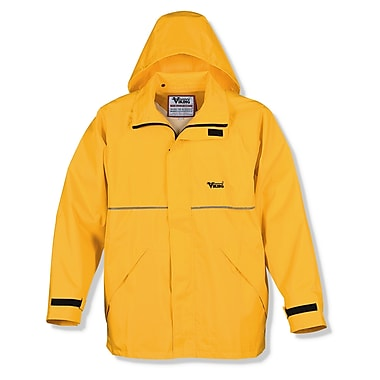 Viking Journeyman 420D Nylon Rain Jacket, X-Large, Yellow