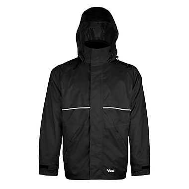 Viking Journeyman 420D Nylon Rain Jacket, Medium, Black
