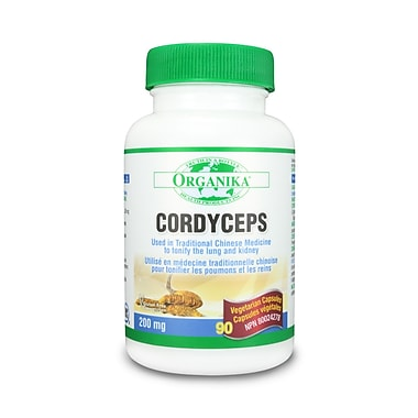 Organika® Mushroom Extract Cordyceps Vegetarian Capsules, 2 x 90/Pack