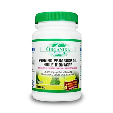 Organika® Evening Primrose Oil Softgels, 1000mg, 2 x 90/Pack