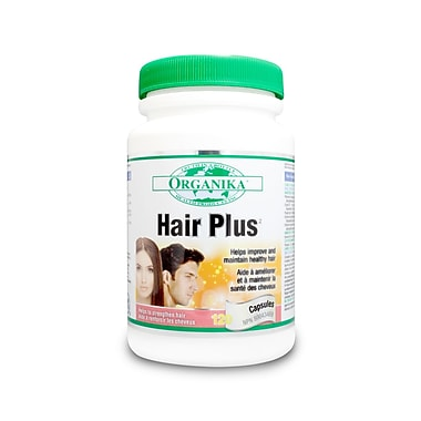 Organika® Hair Plus Capsules, 2 x 120/Pack