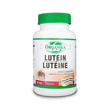 Organika® Lutein Vegetarian Capsules, 2 x 60/Pack