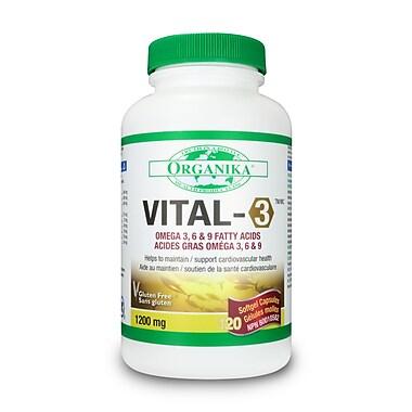 Organika® Vital-3 Omega 3,6,9 Softgels, 2 x 120/Pack
