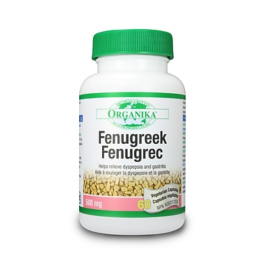 Organika® Fenugreek Vegetarian Capsules, 6 x 60/Pack